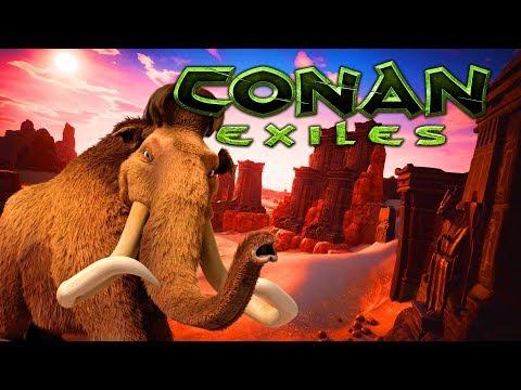 GIANT MAMMOTH ATTACK Conan Exiles - Ep.8