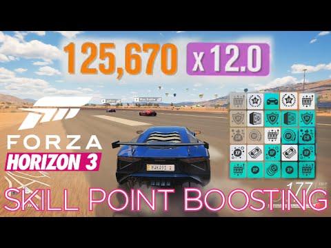 Forza Horizon 3 - How to BOOST Skill Points (Perk Unlocks) & Levels - I Want It All Achievement