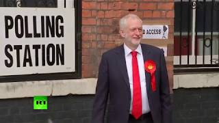 Jeremy Corbyn votes in home constituency Islington North