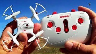 Syma X20 Altitude Hold Micro Drone Flight Test Review