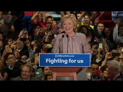 Hillary Clinton's full New York primary victory speech