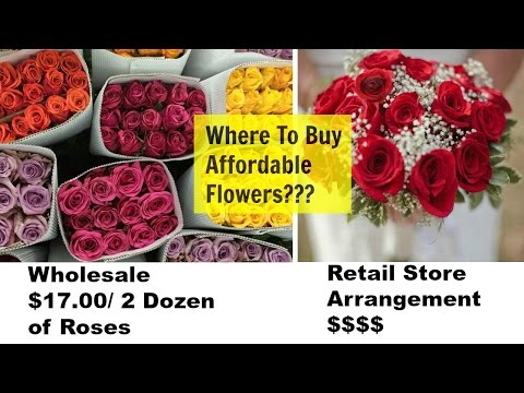 WHERE to Buy AFFORDABLE Flowers? Wedding/Events