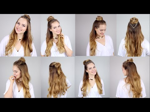 5 Ways To Rock The Half Top Knot Super Easy And Fast