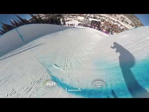 【VR映像】スキーハーフパイプのバーチャル体験(ワールドカップ)