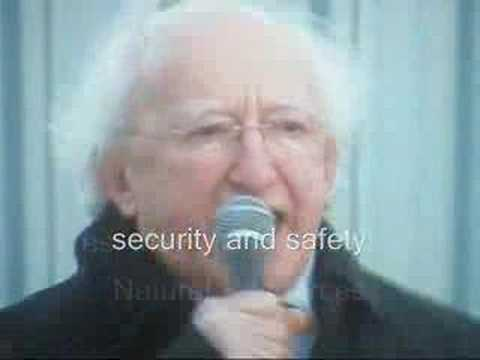 Shell to Sea - Michael D Higgins at Protest