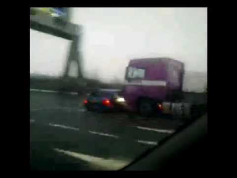 Truck Driver Doesn t See Car