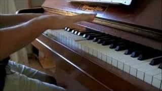 Pokemon red/blue/yellow battle theme on a piano