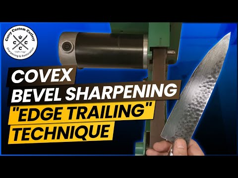 Convex bevel sharpening a Shun chef knife