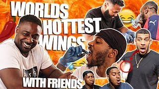WORLD'S HOTTEST WING CHALLENGE W/ YOUTUBERS!! **they nearly fainted**