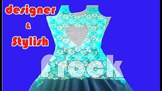 Designer NET Frock, Drafting, cutting, Gown cutting and stitching