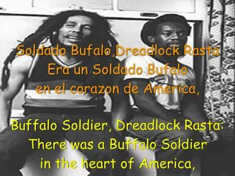 Bob Marley - Buffalo Soldier Lyrics in English/Español