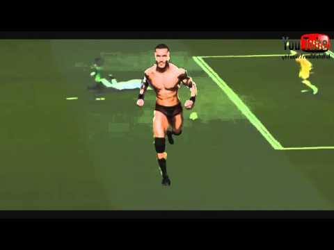 Randy Orton diving after Ronaldo [Real vs Celta Vigo 06.12.2014]