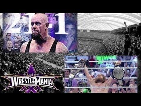 Resultados WWE WrestleMania XXX Undertaker pierde 21-1 / Daniel Bryan se corona