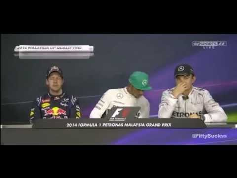 2014 F1 Rd2. Malaysian GP Post Qualifying Top3 Interview - Hamilton Vettel Rosberg