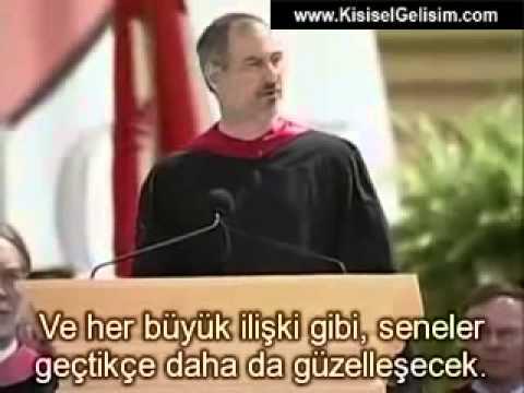 Steve Jobs'un Stanford Üniversitesi Mezuniyet Töreni Konuşması (Türkçe Altyazılı)