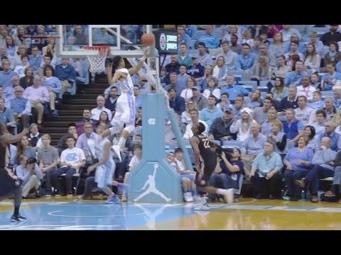 UNC Men's Basketball: J.P. Tokoto's Chase-Down Block vs. FSU