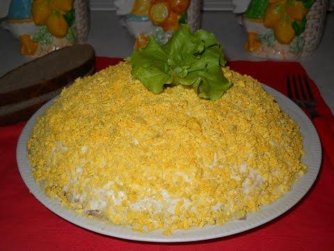 Как приготовить салат Мимоза?Рецепт -салат Мимоза.