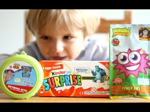 Disney Pixar Monsters University Kinder Surprise Eggs. Disney Toy Story Kite.Moshi Monsters lollipop
