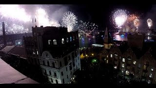 What a $1000 rooftop view of Sydney New Years Eve Fireworks looks like! (Using Points)