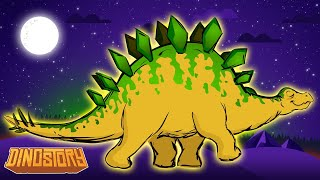 Stegosaurus Song - Stegosaurus meets Triceratops - Dinosaur songs from Dinostory by Howdytoons