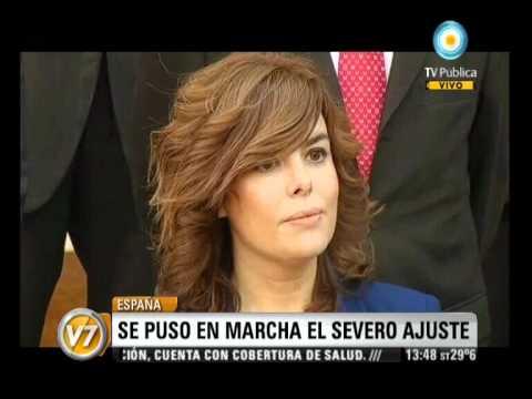 Visión Siete: España: Rajoy anunció un recorte de 8.900 millones de euros