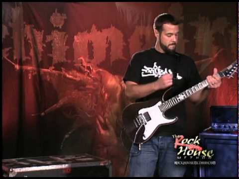Rob Aronld of Chimaira on his guitar instructional DVd w/Rock House