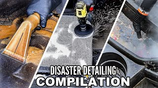 Dirtiest Car Detailing Series Ep 1-9 - COMPILATION of The BEST Interiors Transformations Ever!