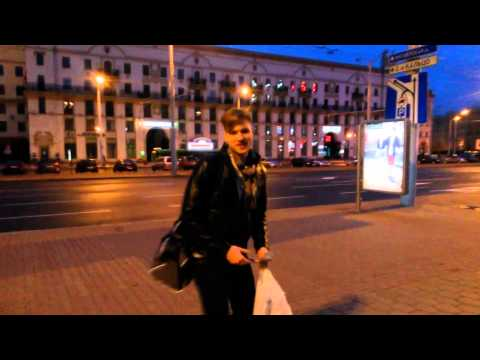On the way to the Minsk railway station