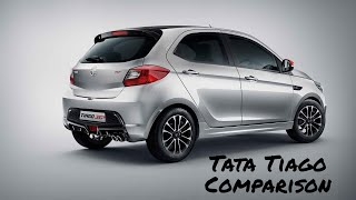 Tata Tiago Petrol comparison with Swift, DZire, Figo, Ignis and i10