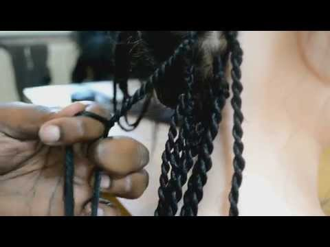 How to do Senegalese Twists (Kanekalon/Rope/kinky)