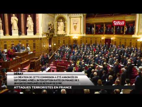 Hommage aux victimes : minute de silence et Marseillaise au Sénat