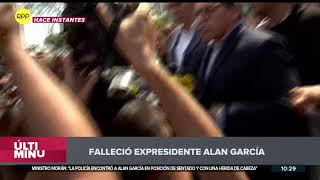Alan García falleció, informan dirigentes apristas