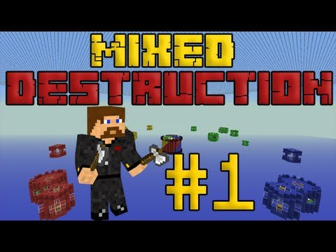 Minecraft Mixed Destruction #1 - Четыре команды