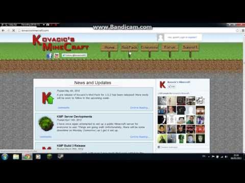How to install and use Kovacics Mod Pack for Minecraft 1.6.2