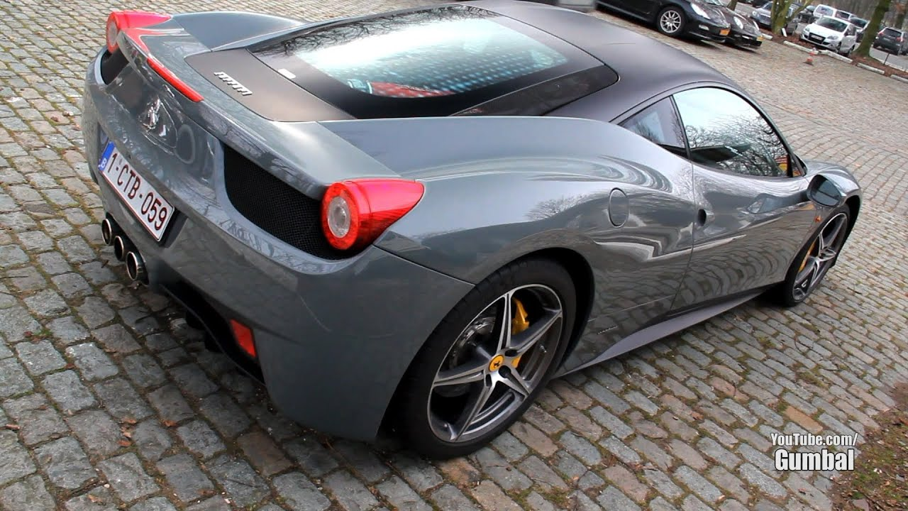 Ferrari 458 Italia In Grigio Medio Nero Opaco Youtube
