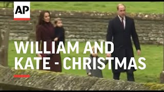 William, Kate, George and Charlotte spend Christmas with the Middletons