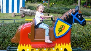 Legoland amusement park for children Funny Playtime with Roma and Diana