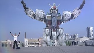 OMG!GUNDAM controlled by homeboy in real life!   (special effects)