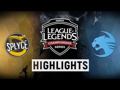 SPY vs. ROC - EU LCS Week 2 Day 1 Match Highlights (Spring 2018)