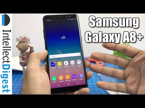 Samsung Galaxy A8+ (Plus) Unboxing, Camera Test, Features & Hands On | Intellect Digest