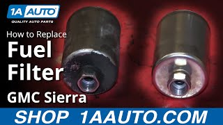 How To Install Replace Fuel Filter 1999-2006 GMC Sierra Chevy Silverado more GM
