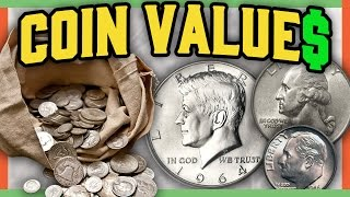 SILVER COINS WORTH MONEY -  VALUABLE COINS IN POCKET CHANGE!!