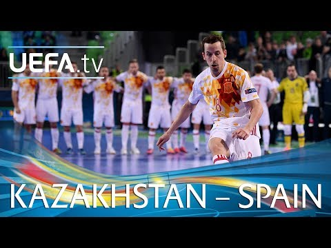 Futsal EURO highlights: Kazakhstan v Spain