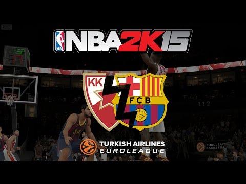 NBA 2K15 Crvena zvezda - Barcelona (Euroleague) GAMEPLAY