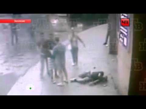 Драка с кавказцами в Москве на Тверской