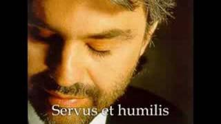 Watch Andrea Bocelli Panis Angelicus video