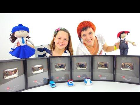 Серебряные Кнопки YouTube. Наши популярные каналы. Лучшая подружка Настя и Маша.