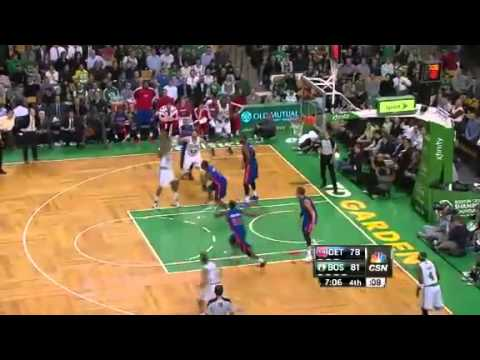 NBA Detroit Pistons Vs Boston Celtics Highlights Apr 3, 2013 Game Recap