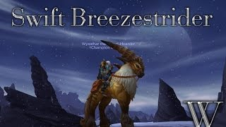WoW Pathrunner - Rare Swift Breezestrider Mount!! Warlords of Draenor