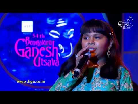 """Anjana Padmanabhan Singing  """"Titli"""" From The Movie Chennai Express @ 54th Bengaluru Ganesh Utsava"""